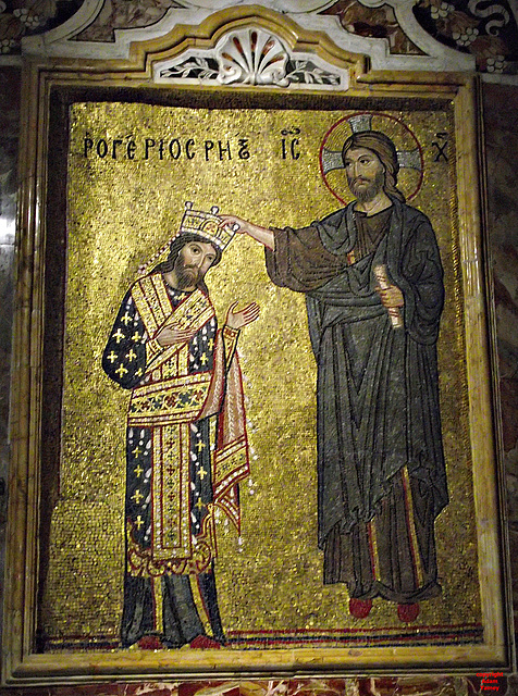 Greek on mosaic