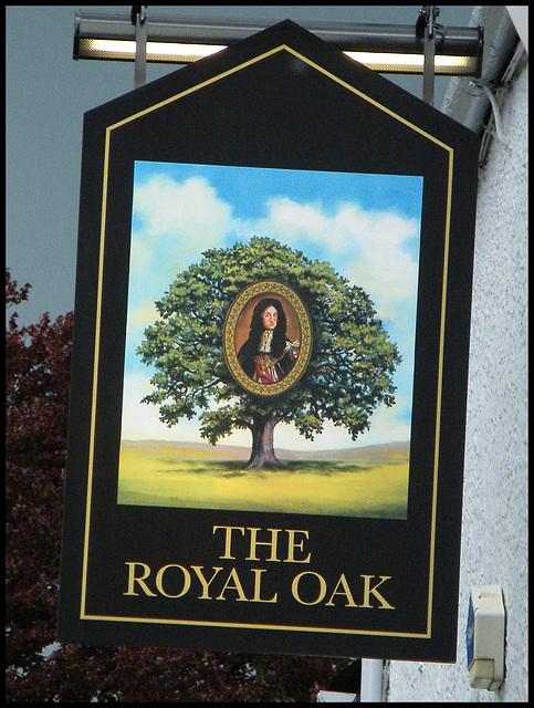 Royal Oak pub sign