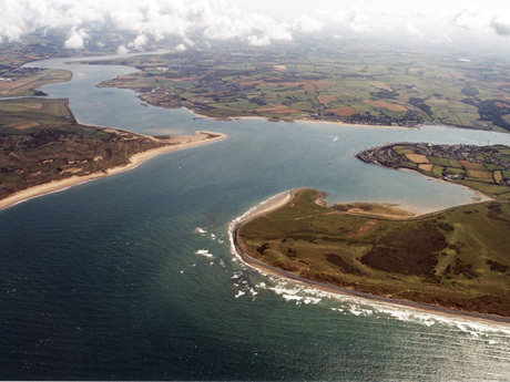 Aerial view of the Taw and Torridge estuary
