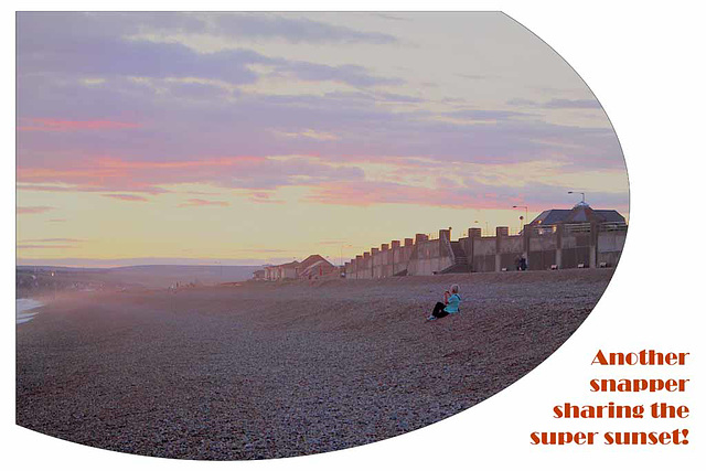Snapped snapping the sunset - Seaford - 19.8.2014