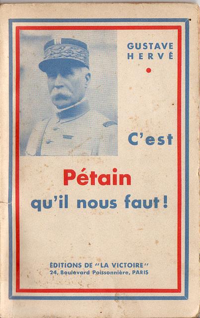 C'est Pétain qu'il nous faut 1936 Couverture