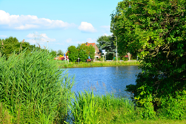 A view across the Zijl canal