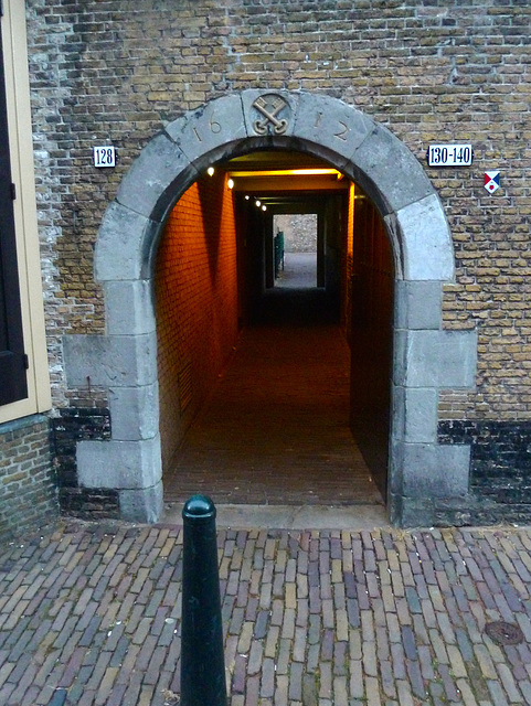 """Gate of the former brewery """"De Sleutel"""" (The Key)"""