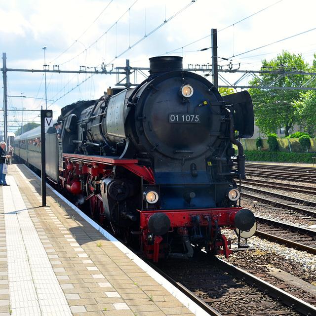 Dordt in Stoom 2014 – Steam engine 01 1075 arriving in Dordrecht