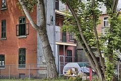 Storage Sheds – Clark Street near Prince Arthur, Montréal, Québec