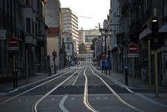 BESANCON: Avenue Fontaine Argent après les travaus du tram.