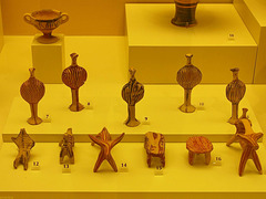 PICT18922ac Mycenean Painted Terracota Artifacts 1500 B.C.