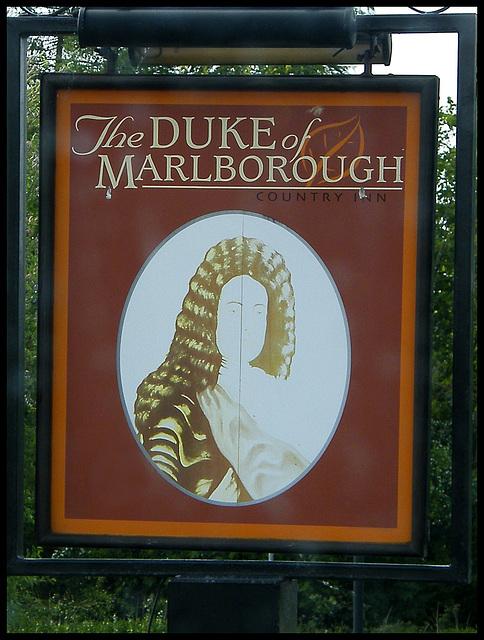 Duke of Marlborough pub sign