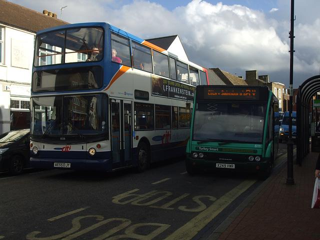 DSCF4448 Stagecoach (Cambus) AE55 DJY and Norfolk Green X249 VWR