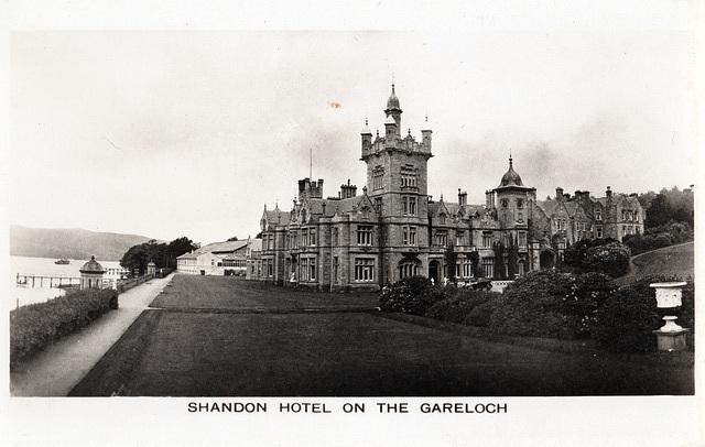 West Shandon House , Argyll and Bute, Scotland (Demolished 1956)