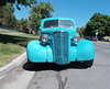 Old Chevy painted a delicious turquoise