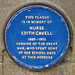 Edith Cavell Blue Plaque