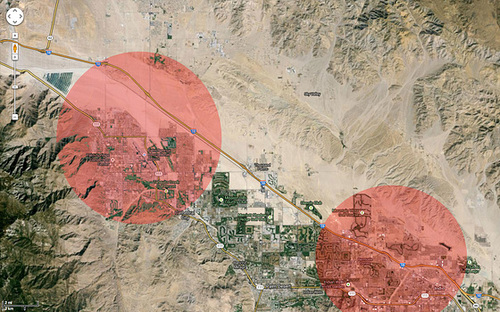 Coachella Valley Airports 5 Mile Radius