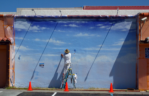 South Of The Border Mural in progress (2291)