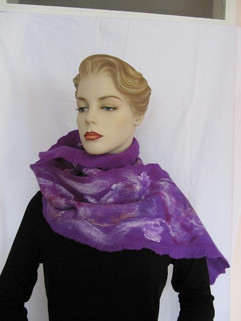 felted shawl - purple