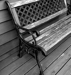 Bench In Black & White