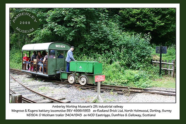Battery loco & MOD trailer - Amberley  - 2008