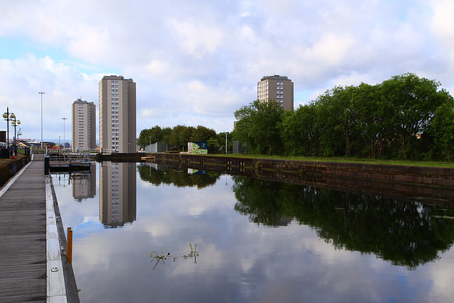 The forth Clyde canal at Port Dundas, glasgow