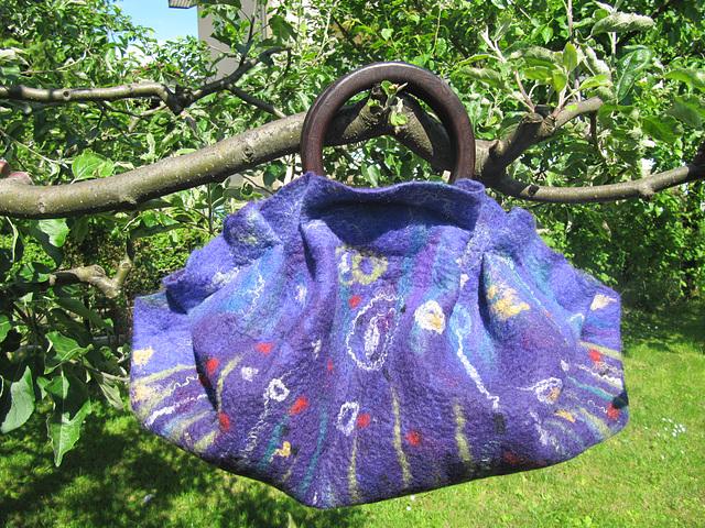 felted handbag - purple
