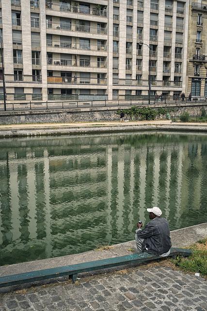 Canal Saint Martin, Paris, 24 April 2014