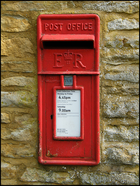 Church Enstone post box
