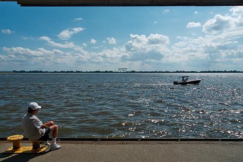 Blick auf die Elbe vom Blankeneser Fähranleger // elbblick-1190145-co-06-07-14