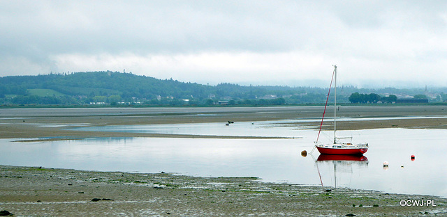 Findhorn Mooring, with Forres town in the background