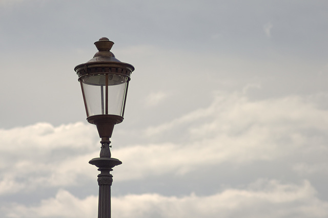 Lamp with sky fluff