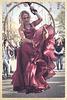 Lady in red in Kungsträdgården