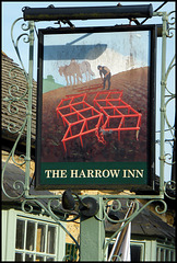 Harrow Inn pub sign