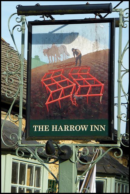 Harrow Inn pub sign