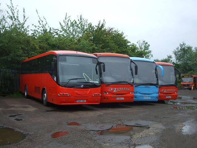 DSCF5170 Mulleys Motorways line up YN05 HBO, S598 KJF, X471 KUT and S595 KJF