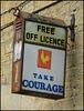 Take Courage lamp