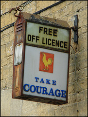 Take Courage lamp