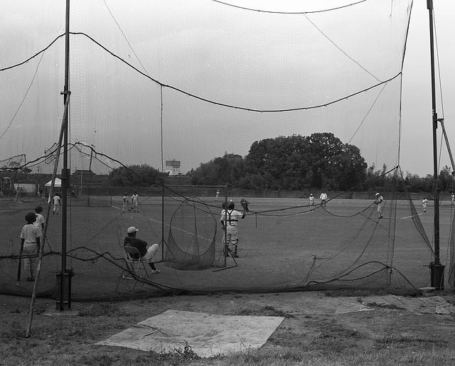 Practice baseball game
