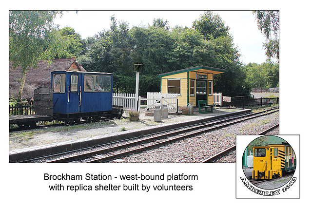 Brockham platform & shelter  - Amberley - 29.8.2013