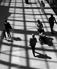 shadows in a mall