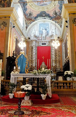 Pieve di Tremosine. Kirche San Giovanni Battista. Hautaltar.  ©UdoSm