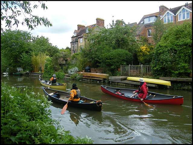 canoeing on the canal