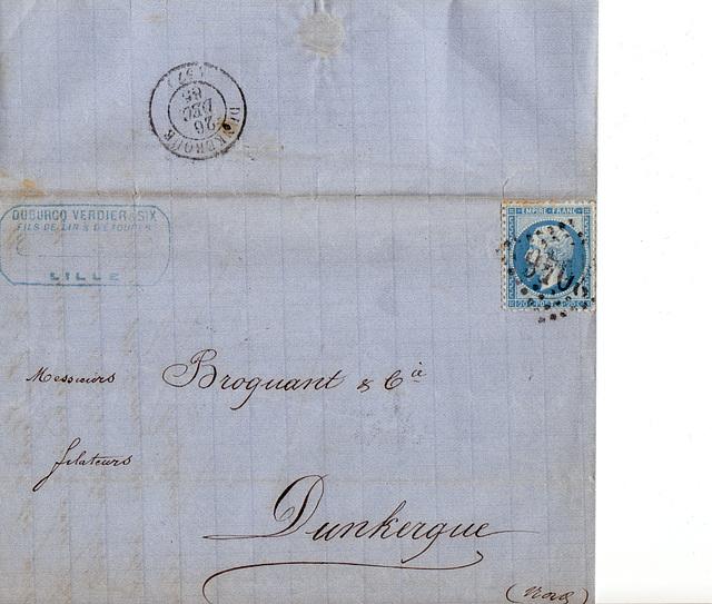 26 décembre 1865 - quand la poste, était beaucoup plus rapide que de nos jours !
