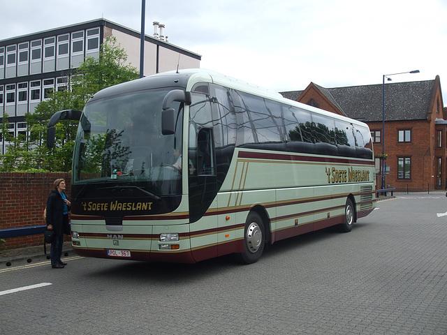 DSCF5173 Jos Smet en Zonen (Reizen 't Soete Waeslant) PGL 967  in Bury St. Edmunds - 30 May 2014