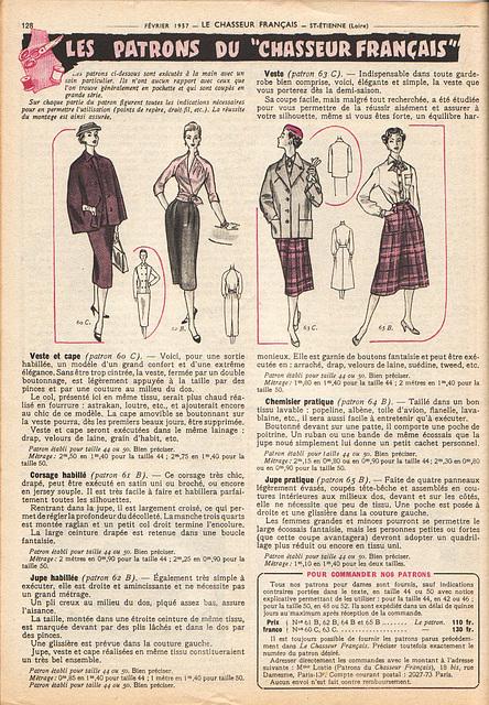 belle mode février 1957