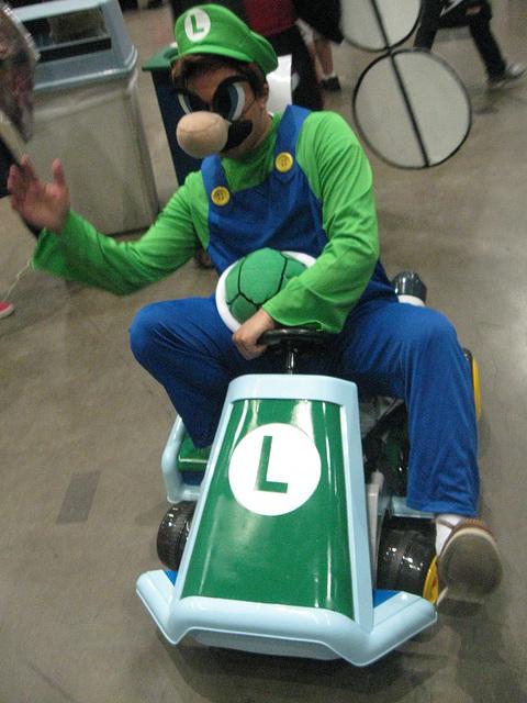 Luigi cosplay, Anime Expo 2014