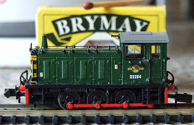 My N Gauge Class 4 Shunter in front of match box
