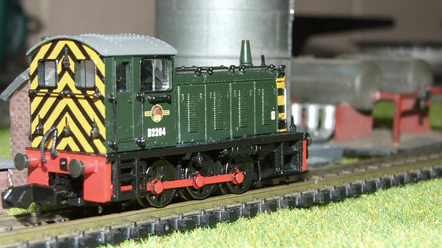 N Gauge Class 4 with tank farm behind