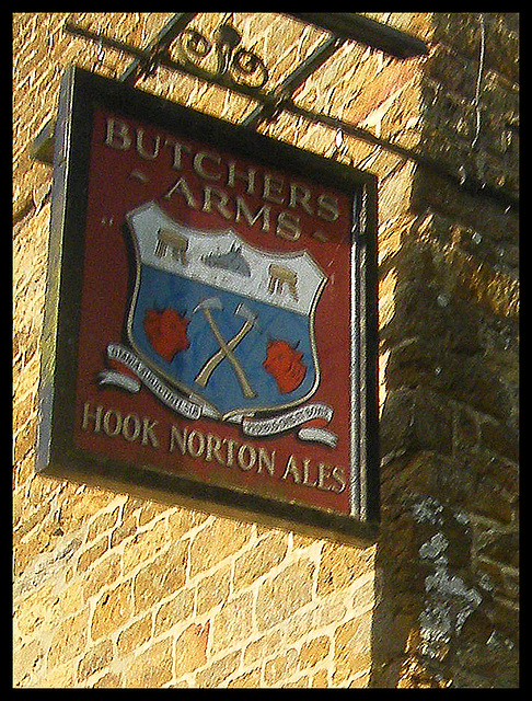 Butchers Arms pub sign