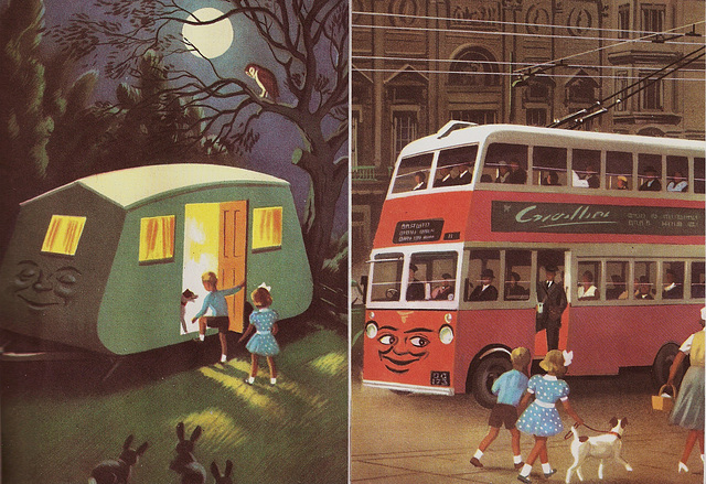 Coco the Caravan & Timbo the Trolleybus.