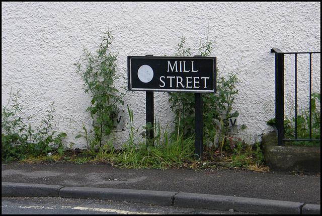 Mill Street street sign