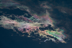 R is for rainbow clouds