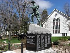 Prince County Memorial 1914 - 1918 - Memorial Park Cenotaph - Festubert, Courcelette, Vimy Ridge